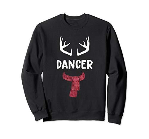 Dancer Reindeer Christmas Matching PJs Group Costume Gift Sweatshirt