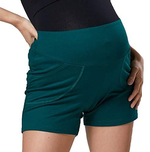 HAPPY MAMA Mujer Maternidad Hose Kurz Cortos Pantalones Bolsillos Laterales 1027