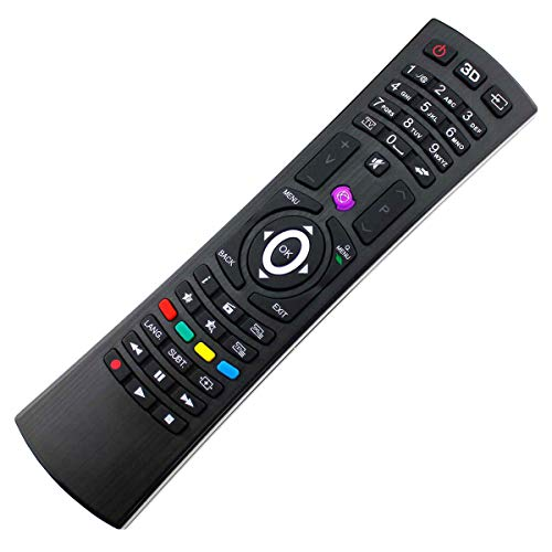 Mando a Distancia de Repuesto Adecuado para Vestel TV Telefunken UVM. RC4810 (30087841) con Conexión PreProgramada Uno a Uno - Función de Arranque Fácil - sin Instalación Molesta