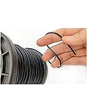 Tuindraad, Zwart gecoat staaldraad, 304 roestvrij staal staal PVC gecoate flexibele draad touw zachte kabel transparante waslijn (Specification : 0.5mmX100meters 1X7)