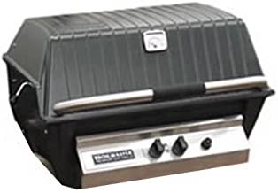 Broilmaster P3XFN Natural Gas Grill Head with Flare Buster, Black