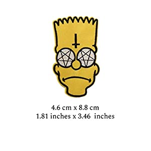41 f33q10gL. SS300  - Parche para planchar de CRW Bart Simpson, ideal para chaquetas, mochilas, vaqueros, sombreros, Bart Simpson 2 Patch