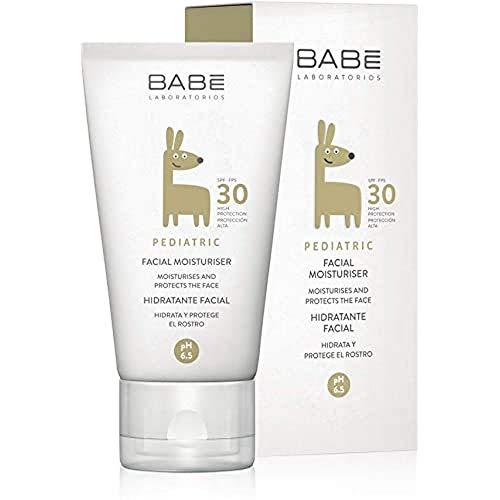 Laboratorios Babé - Crema Hidratante Facial Pediátrica SPF 30 50 ml, Piel Sensible y Delicada, Alta Protección Solar UVA UVB, Fotoprotector Para Bebé, Suavidad Inmediata