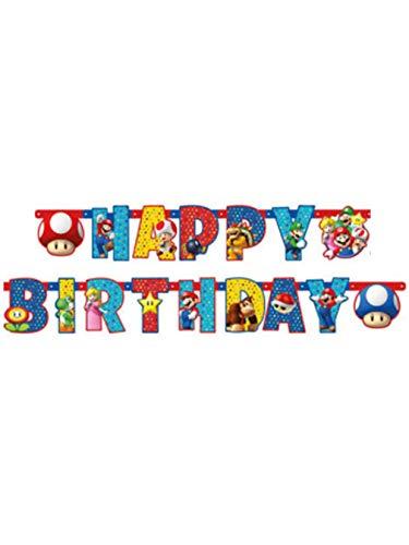 amscan Pancarta articulado Happy Birthday personalizable dibujo de 190x 18cm de, Multicolor, 7am9901542