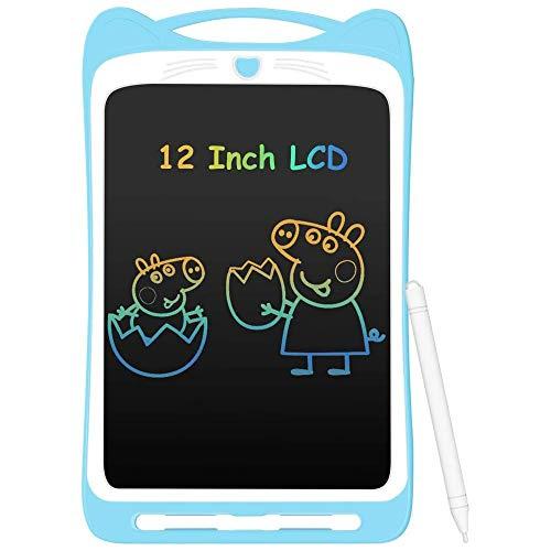 ZWCC Tableta De Escritura LCD Colorida De 8.5 Pulgadas para NiñOs, Tablero De Dibujo ElectróNico PortáTil con Interruptor De Bloqueo para Escuela Infantil En Casa,Azul