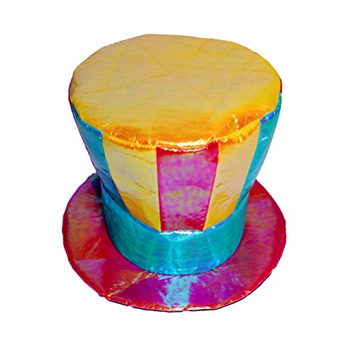 BESTOYARD Hut Clown Flat Top Hat Clown Cap Sport Magic Hats Bunte Cosplay Kostüm Requisiten für Erwachsene