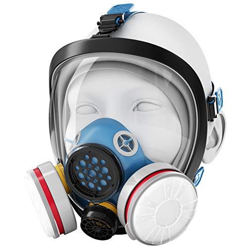 Blazin Máscara de gas respirador de cara completa   Prepper Essential Protection   Utiliza vapores orgánicos LDY3 Vapores   Cubierta facial de pintura   polvo, soldadura, pintura, pulido, molienda, lijado
