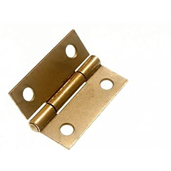 1 1//2 Pair 100mm Securit Steel Butt Hinges Brass Plated