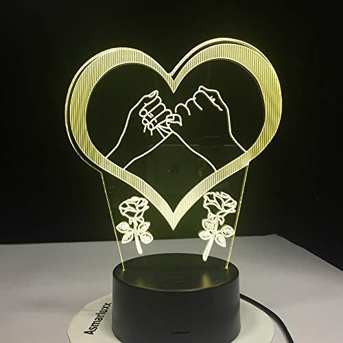 De la Mano, el Dedo meñique Jura Que prometió Luces de Amor, Color, luz Nocturna, lámpara de Mesa para niños, Regalo de Amor