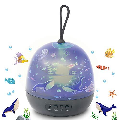 Romantic Star Night Light Projection Lamp,Universe Star Projector Night Light for Kids 360 Rotating...