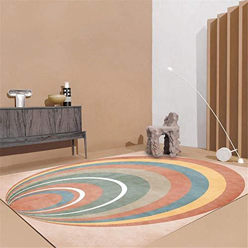 Xiaosua Lichtbeständig Anti-Staub Teppich Einfache Moderne Mode geometrische Mehrfachkreis...