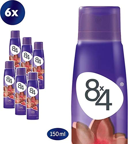 8x4 Key to Love Deodorant Spray - 6 x 150 ml - Voordeelverpakking