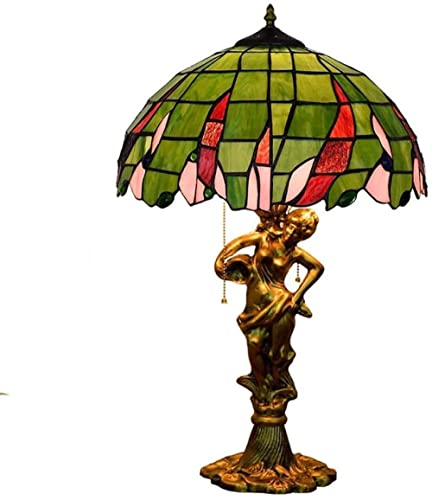Lámpara de mesa de vidrieras hermosa de la ciudad de la ciudad para la sala de estar de la sala de estar Barra de cama de la cama regalo de boda 12 pulgadas 1-15