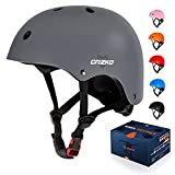 CRZKO Kids Bike Helmet,Safety Toddler Helmet Anti-Shock for Multi-Sport,Cycling Skate Scooter Skateboard,Adjustable from Toddler to Youth with 3 Sizes