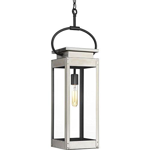 Progress Lighting P550018-135 Union Square Stainless Steel One-Light Hanging Lantern