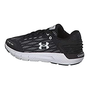 UNDER ARMOUR Women's Charged Rogue Running Shoe, Black (002)/White, 6.5