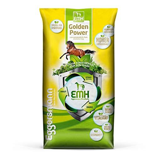 Eggersmann EMH Golden Power Müsli – Energiereiches Pferdemüsli für Sportpferde – Haferfreies Pferdefutter – 15 kg Sack