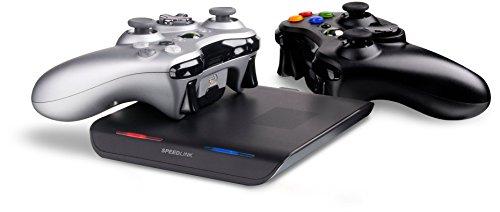 Speedlink Zone Xbox 360 kontaktlose Induktions Ladestation (zwei Akku-Sets inklusive, bis zu 32 Stunden Spielzeit) (Generalüberholt)