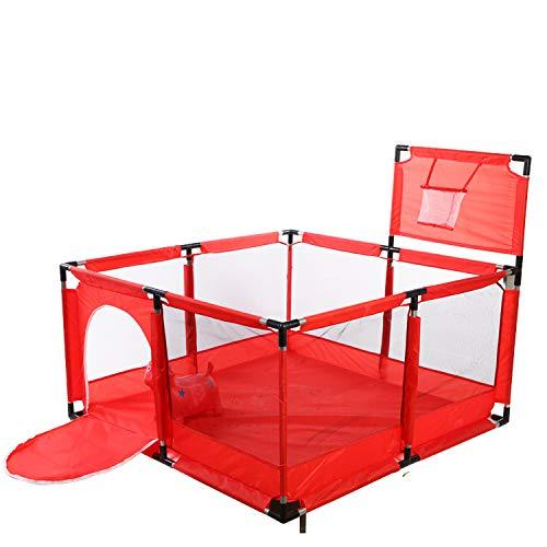 Tavalax Laufstall, schnell auseinandergeklappt | Kinder Baby Laufstall Laufgitter | Laufgitter & -ställe … (RED)