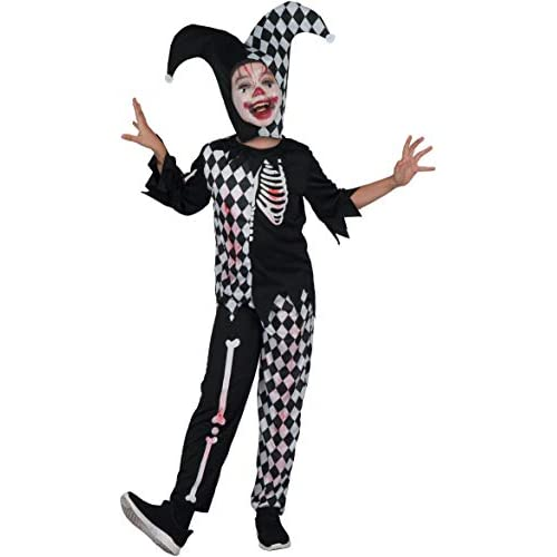 Costume bambino Horror Jester boy, 5-7 anni