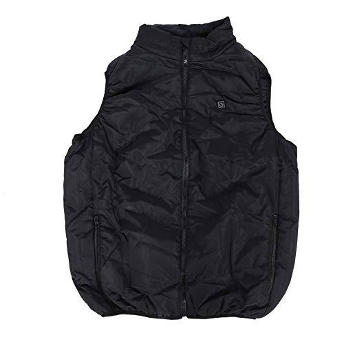 Chaleco calefactor térmico caliente chaleco chaleco eléctrico chaleco chaqueta para hombre (XXXL)