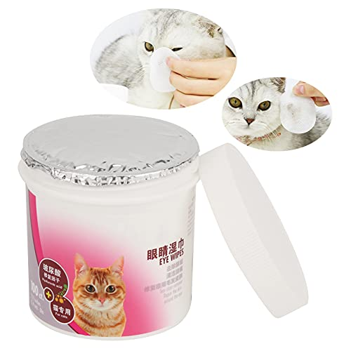 01 Toallitas limpiadoras de oídos para Mascotas, Toallitas húmedas para Ojos de Mascotas Pet Supply Almohadillas limpiadoras Suaves para Limpiar Las secreciones oculares
