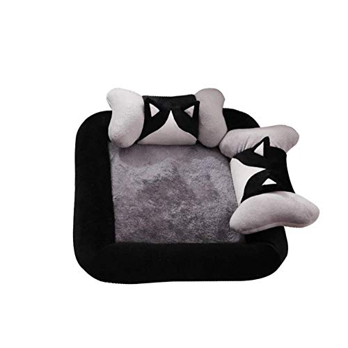 LF- Pet Mat Creative Dog Bed Pet Mattress Large Medium Small Dogs Removable And Washable Comfortable (Color : Gray, Size : 85×85cm)