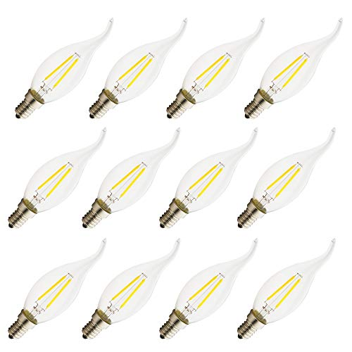 E14 niet dimbaar LED Edison Candle gloeilampen AC 220-240V kaars gloeilamp achterlicht gloeilamp transparant glas