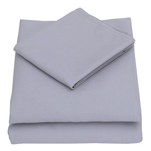 NoJo 3-Piece Toddler Sheet Set, Grey, 52