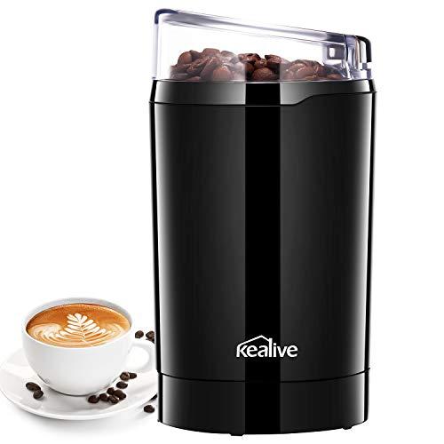 Macinacaffè Elettrico con Lame in Acciaio Inox Macinino Inossidabile 304 Coffee Grinder per Chicchi di caffè Macina Spezie Semi Pepe Zucchero Salecereal