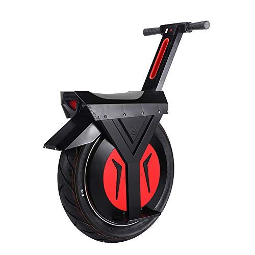 Einrad Elektroroller für Erwachsene mit Griff 17 Zoll Thinking Somatosensory Scooter 500W Motor Vakuumreifen selbstausgleichend faltbar mit LED-Leuchten 90 km,90km