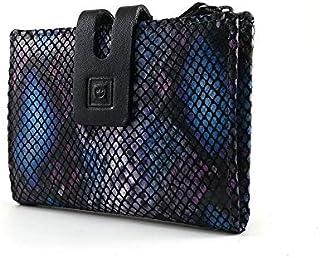 Portafoglio Donna con Portamonete | Pelle Ubrique | Portafoglio e portacarte | Fatto a mano in Spagna | RFID | 28812 Blu