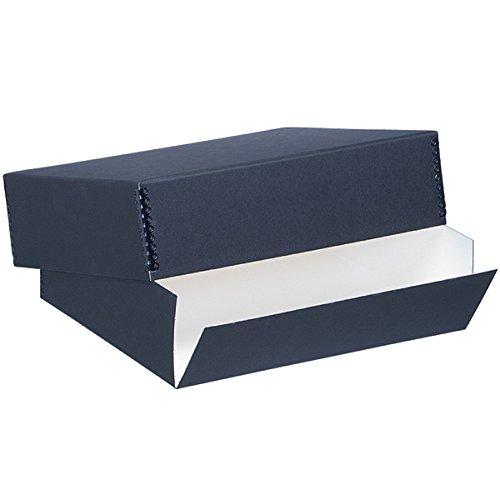 """Lineco Archival 16"""" x 20"""" Print Storage Box, Drop Front Design, 16 1/2"""" x 20 1/2"""" x 1 1/2"""", Exterior Color: Black"""