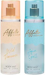 Affetto By Sunny Leone Romance & Aqua Spell Body Mist - For Women 200ML Each (400ML, Pack of 2)
