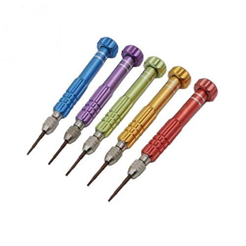 Lankater 1 Juego 5 En 1 Portable bit bit Torx Destornillador 1,5 Mm 0.8mm Pentalobe Destornillador De Precisión con Color Azar
