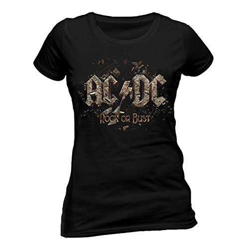AC/DC - Camiseta - Mujer Negro negro Medium
