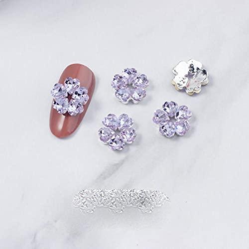 10 teile/los 3d legierung rose blume liebe nagelkunst dekorationen liefert steine strass edelsteine metall nägel zubehör schmuck charms-LF6297