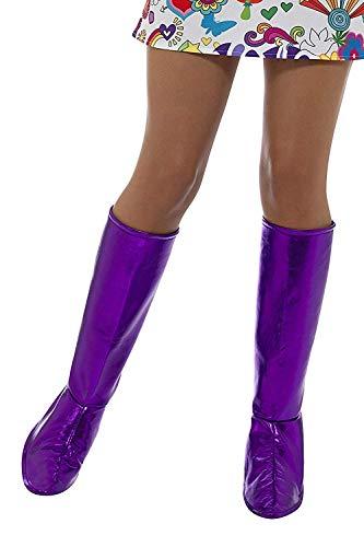 Smiffys, GoGo laarzen voor dames, één maat GoGo laarzen OS paars