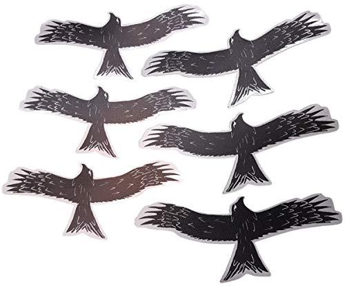 FlyEx 3X Greifvogel Adler Magnete anstatt Aufkleber für Fliegengitter Insektenschutz Reparatur-Set Vogelschlag Netze Türen Fenster Schiebetüren (3X Greifvogel)