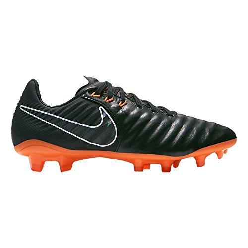 Nike Unisex-Kinder Tiempo Legend VII Elite FG Fußballschuhe, Schwarz (Black/orange Black/orange), 38.5 EU
