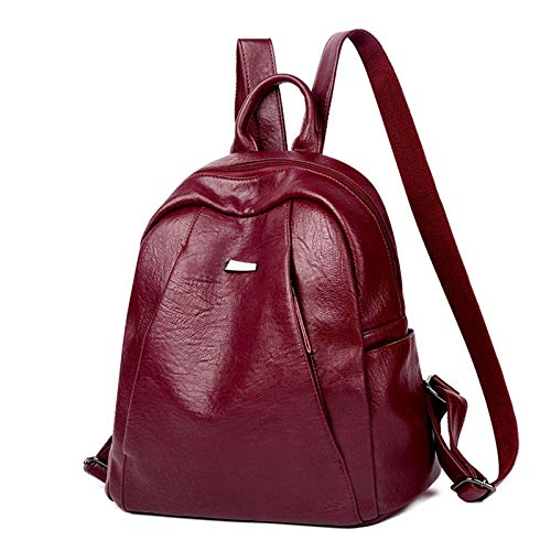 Women Backpack Purse PU Leather Anti-Theft Fashion Backpack Multi-pocket Large Capacity Leather Shoulder Bag for Girls
