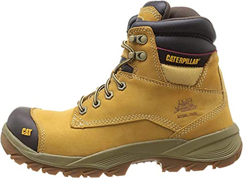 CAT Workwear Mens Spiro Lace Up Leather Work Safety Boots