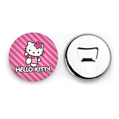 songyang Hello Kitty Apribottiglie Kawaii Frigo Magnete Emblema Multiuso Home Office Decorazione Adesivo Magnetico 2 Pezzi Cavatappi (Hello Kitty 02)