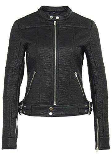 Gipsy Mauritius Damen Lederjacke im Biker Look Model Chila in schwarz aus PU-Leder (M)