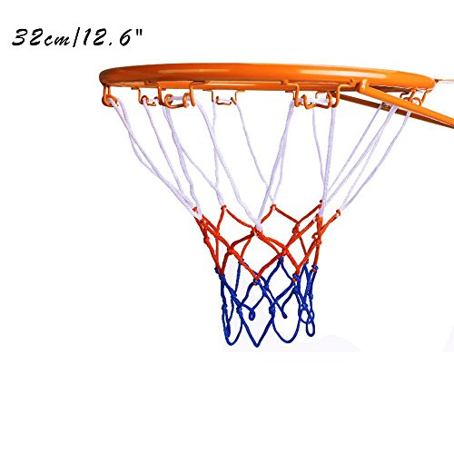 Kids Basketball Hoop, Dream Travel Basketball Rim Goal Wall Mounted Basketball Hoop Indoor Outdoor Hanging Basketball Hoop, 32centimeter/12.6inch(1-Rim, 1-Net, 4-screws) 7.5' Wide Outdoor Wall