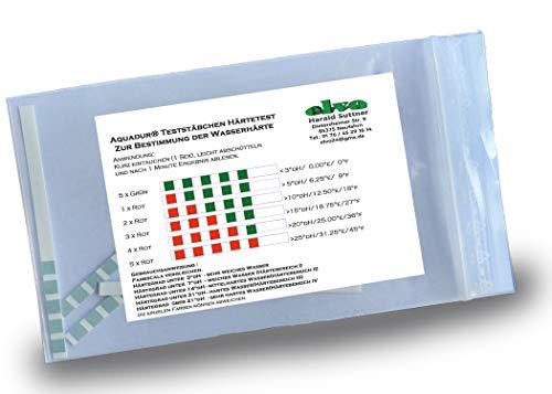 5 x Aquadur Teststäbchen Wasserhärte Teststreifen Härte zur Messung
