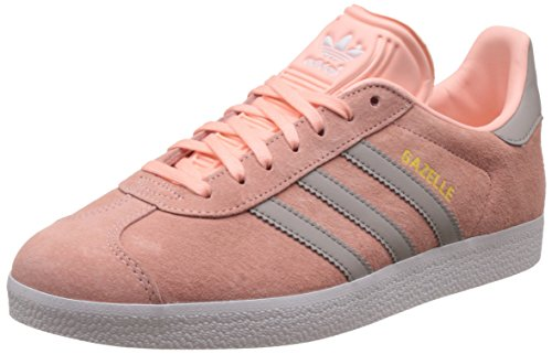 adidas Gazelle, Baskets Basses Femme, Rose (Haze Coral/Clear Granite/Footwear White), 38 2/3 EU