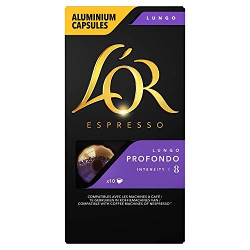 L'Or Espresso Café - 100 Capsules Lungo Profondo Intensité 8 - compatibles Nespresso®* (lot de 10 x 10)
