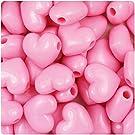 HEART PONY BEADS 500 PK PINK #71420584-03