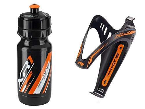 Raceone.it - Kit Fluo Race - 2 PCS - Bidón de Ciclismo + Po
